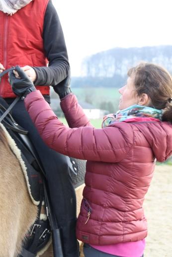Arm-Hand (Zügel-Maul) / Verbindung spüren ohne Restspannung